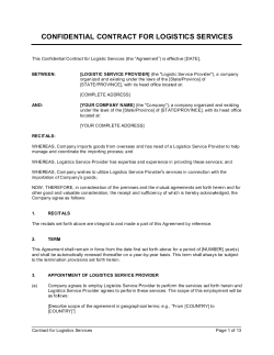 Contract for Logistics Services