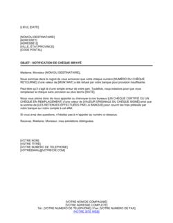 Notification de chèque sans provision 1