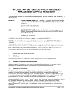 IT Systems & HR Management Services Agreement