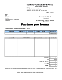 Facture pro forma