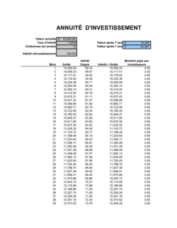 Calculateur d'investissement