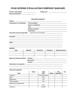Formulaire Demande de prêt bancaire