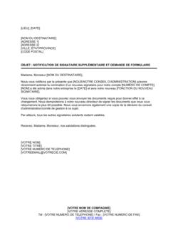 Notification de signataire supplémentaire et demande de formulaire