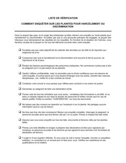 Liste de vérification Comment enquêter sur des plaintes