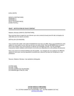 Lettre de licenciement d'un employé