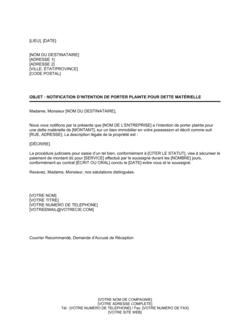 Notification De Reconnaissance De Dette Modeles Exemples Pdf Biztree Com