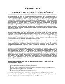 Guide Comment mener une session de remue-méninges