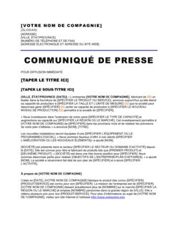 Communiqué de presse Extension d'usine