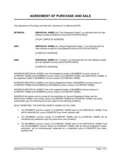 Agreement of Purchase and Sale of Shares 2