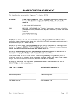 Share Donation Agreement