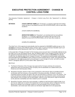 Executive Protection Agreement Change in Control_Long Form