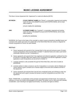 Music License Agreement