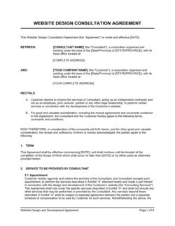 Website Design Consultation Agreement