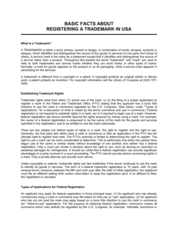 Guide for Registering a Trademark USA